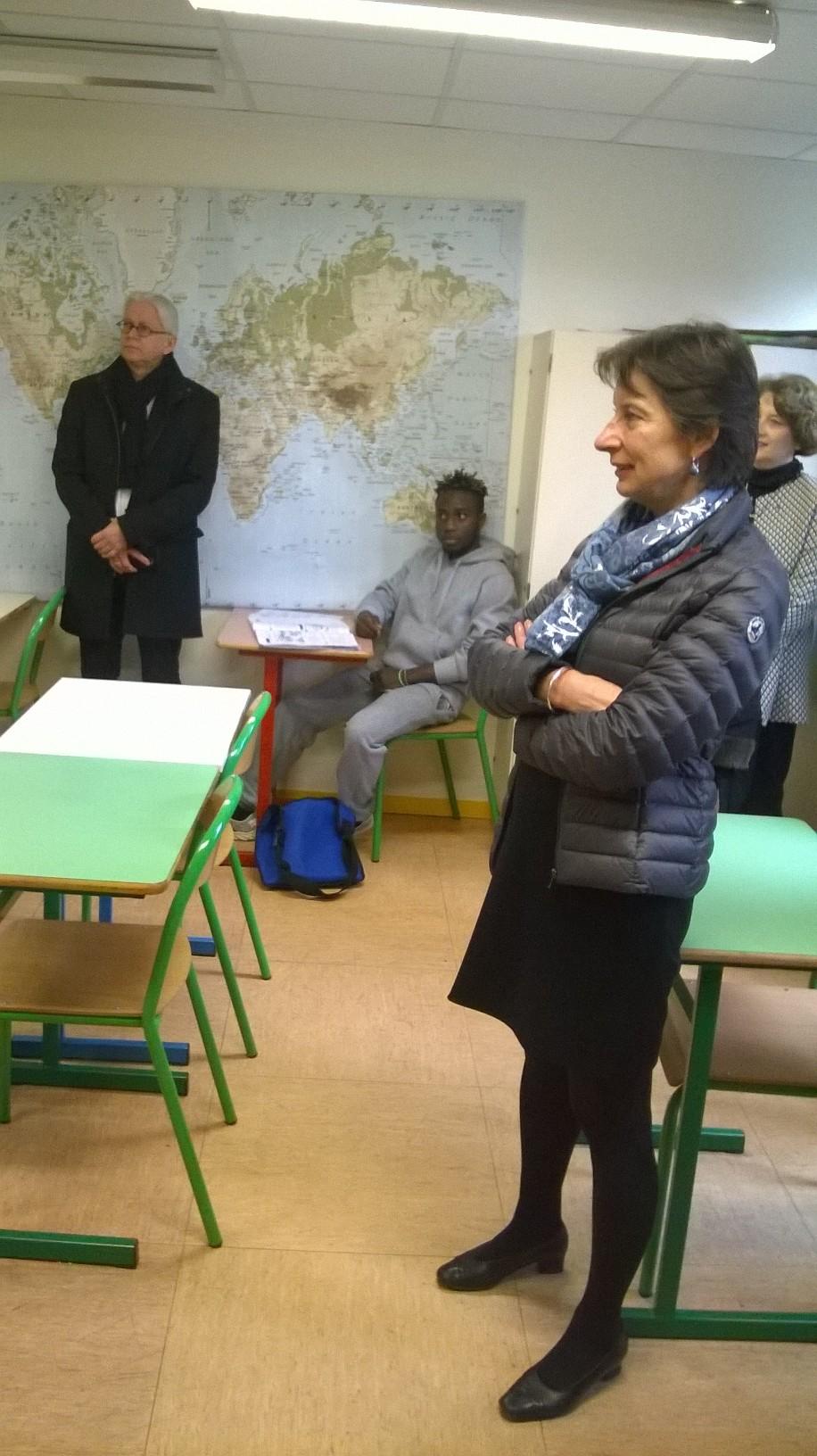Visite de l'ensemble scolaire Victorine Magne